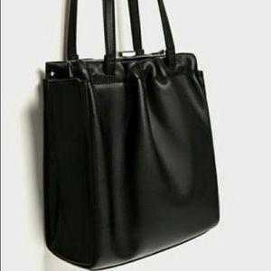 ZARA black faux shoulder bag!NWT FIRM PRICE